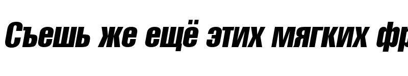 Preview of A1012HelvetikaCmprs TYGRA Compress-Italic