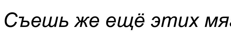 Preview of Arial Italic