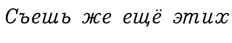 Preview of Bm431 Italic
