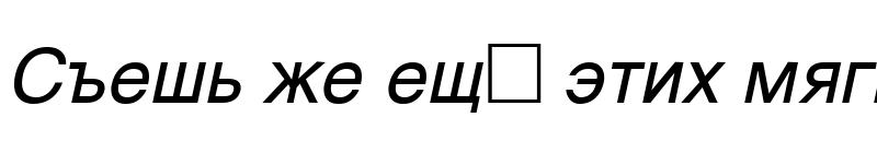 Preview of Helvetica Oblique