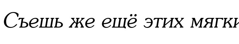 Preview of Souvenir Italic