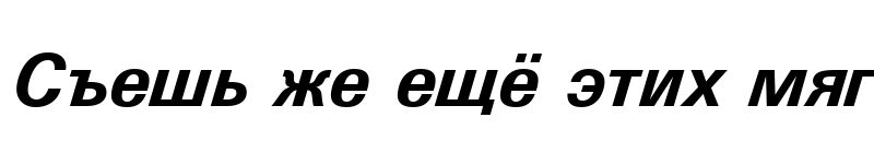 Preview of Univers Bold Italic