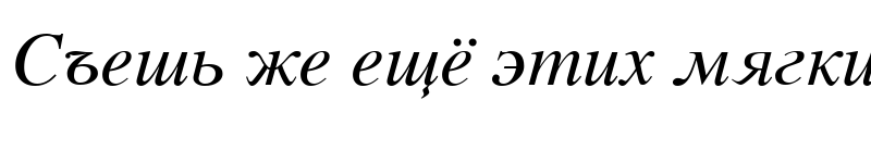 Preview of Vremya Italic