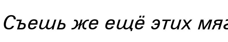 Preview of Zurich WGL4 BT Italic