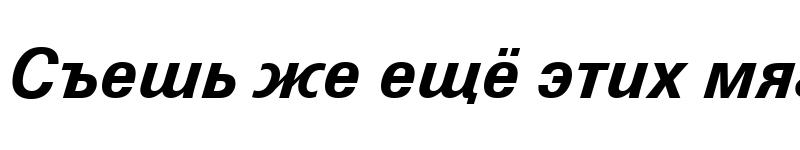 Preview of ZurichCyrillic BT Bold Italic