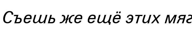 Preview of ZurichCyrillic BT Italic